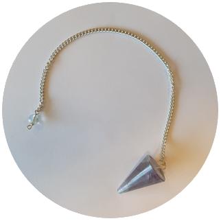 pendelen met een amethist edelsteen pendel
